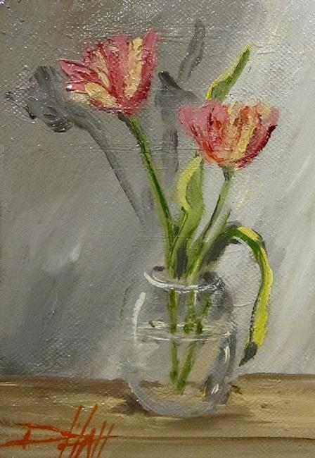 Art: Tulip Still Life by Artist Delilah Smith