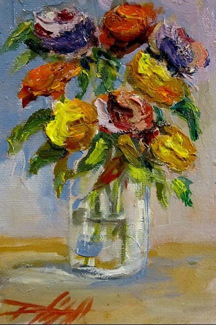 Art: jar-flowers.JPG by Artist Delilah Smith