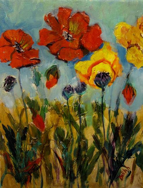 Art: Poppies I by Artist Delilah Smith