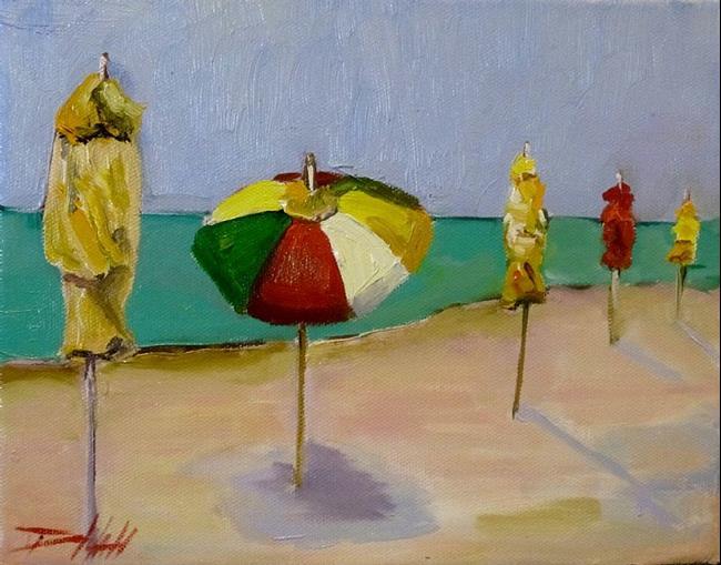 Art: Beach Umbrellas No.4 by Artist Delilah Smith