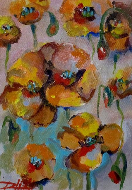 Art: Yellow Poppies by Artist Delilah Smith