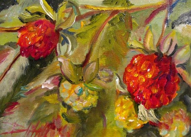 Art: Wild Raspberries No. 2 by Artist Delilah Smith
