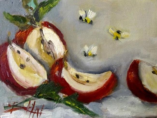 Art: Apple Slice by Artist Delilah Smith