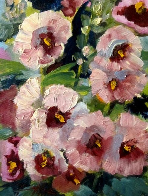 Art: Hollyhocks No. 2 by Artist Delilah Smith