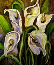Art: Calla Lilies by Artist Delilah Smith
