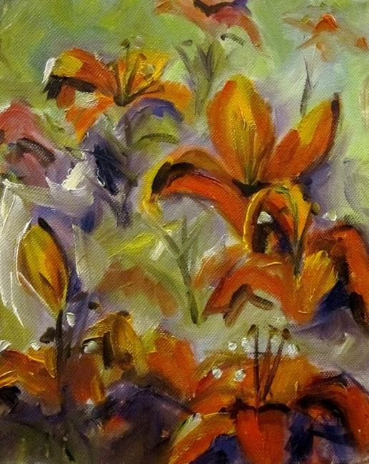Art: Day Lilies No 3 by Artist Delilah Smith