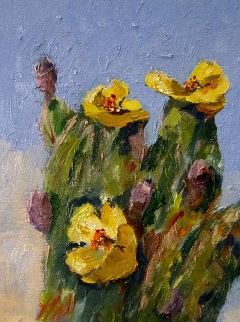 Art: Cactus-SOLD by Artist Delilah Smith