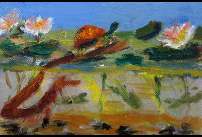 Art: Turtle Pond by Artist Delilah Smith