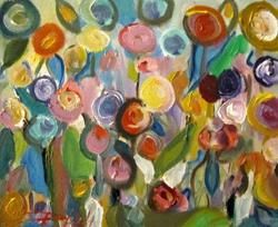Art: Abstract Flower Garden by Artist Delilah Smith