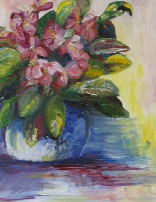 Art: Violets, SOLD by Artist Delilah Smith