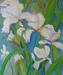 Art: Iris Garden by Artist Delilah Smith