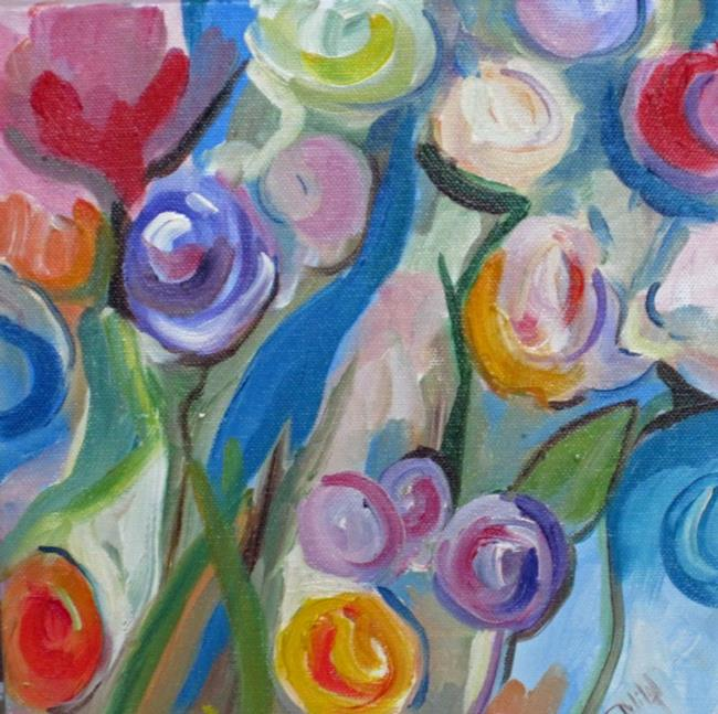 Art: Abstract Rose Garden by Artist Delilah Smith