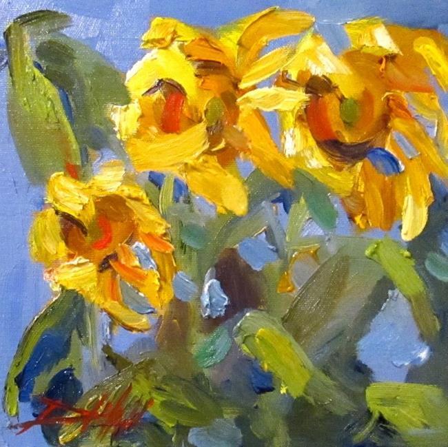 Art: Sunflower Field by Artist Delilah Smith