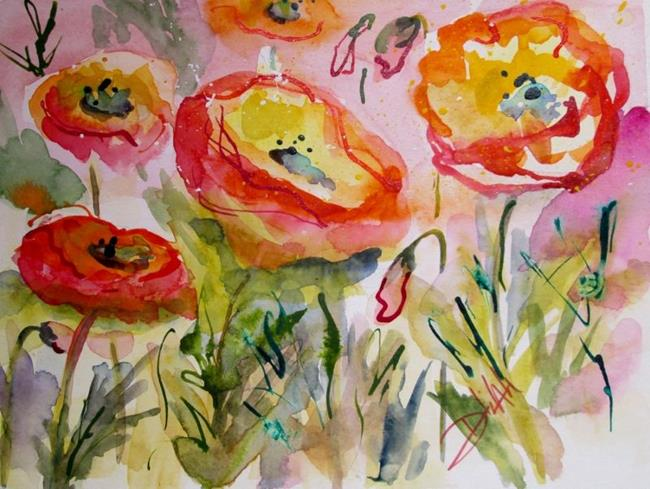 Art: Poppies in Pink and Red by Artist Delilah Smith