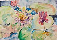 Art: Water Lilies No. 2 by Artist Delilah Smith