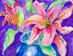 Art: Day Lillies 2 by Artist Delilah Smith