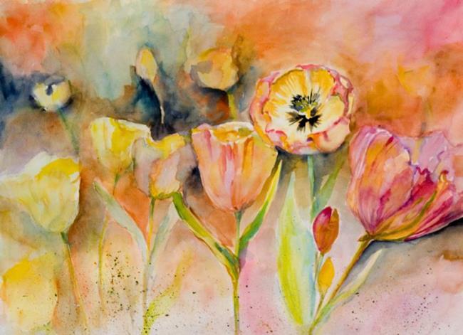 Art: Tulip Mania by Artist Delilah Smith