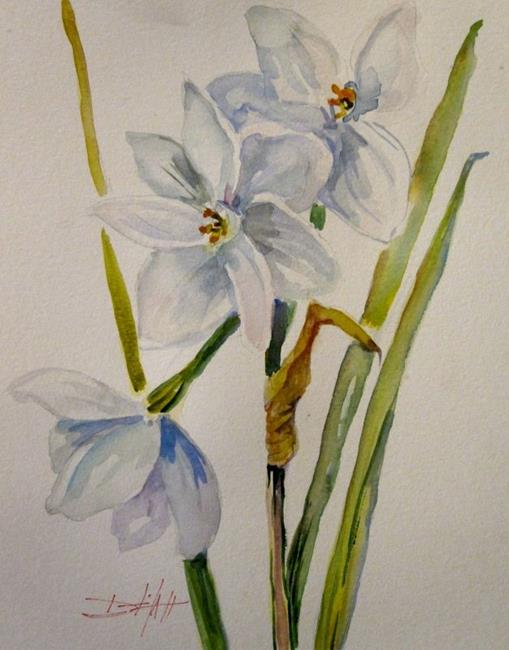 Art: Paper White Narcissus by Artist Delilah Smith