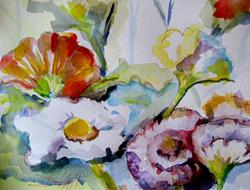 Art: Abstract Flowers-sold by Artist Delilah Smith