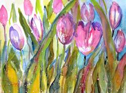 Art: Tulip Field-sold by Artist Delilah Smith