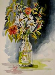 Art: Spring Flowers-sold by Artist Delilah Smith