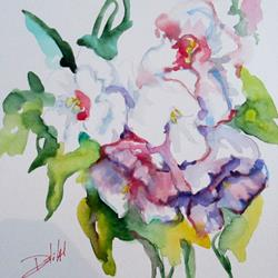 Art: Abstract Floral-SOLD by Artist Delilah Smith