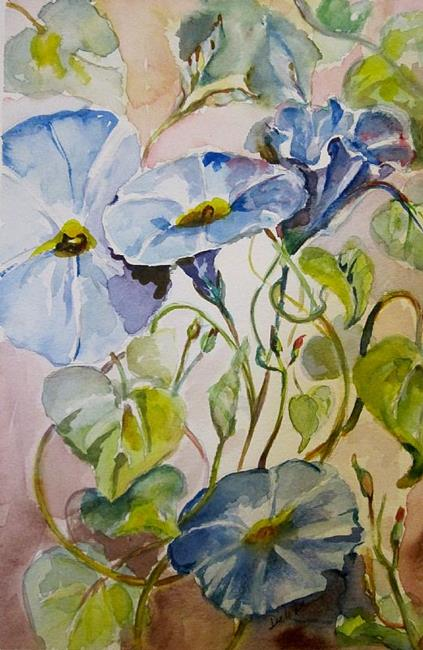 Art: Morning Glories No. 2-sold by Artist Delilah Smith