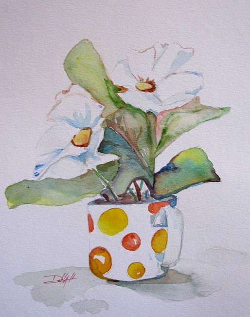 Art: Polka A Dot Cup by Artist Delilah Smith