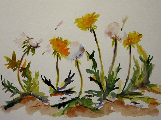 Art: Dandelions by Artist Delilah Smith
