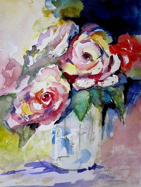 Art: Inspiration of Roses- SOLD by Artist Delilah Smith