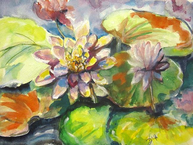 Art: Water Lillies No. 2 by Artist Delilah Smith