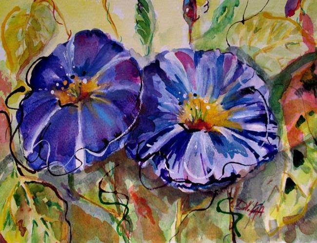 Art: Purple Morning Glories (800x614).jpg by Artist Delilah Smith