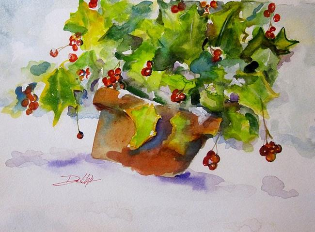 Art: Beautiful Boughs of Holly by Artist Delilah Smith