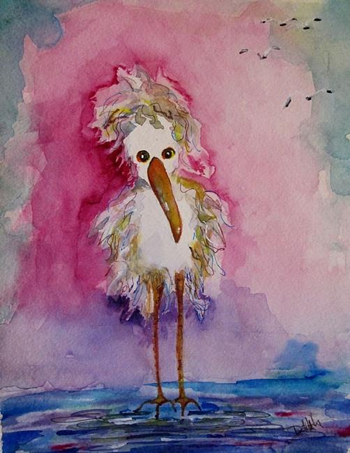 Art: Whimsical Heron No. 2 by Artist Delilah Smith