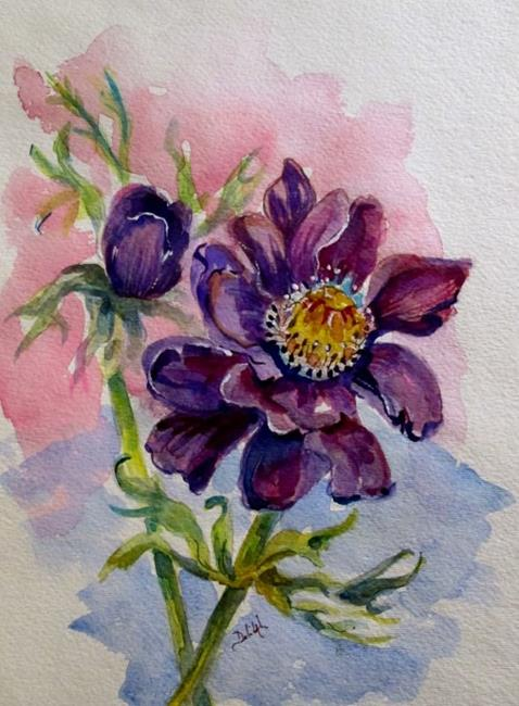 Art: anemone (588x800).jpg by Artist Delilah Smith