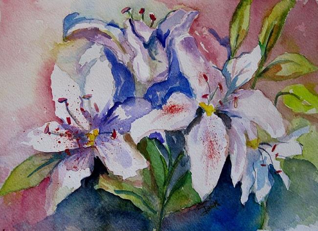 Art: Stargazer Lilies by Artist Delilah Smith