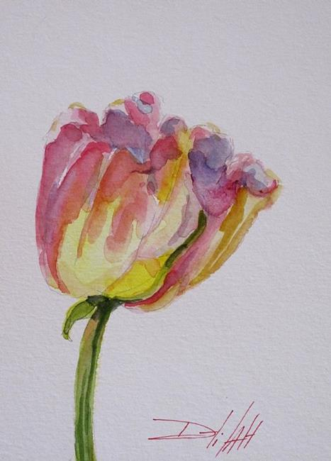 Art: Pink Tulip-sold by Artist Delilah Smith