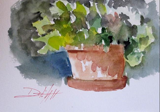Art: Flower Pot by Artist Delilah Smith