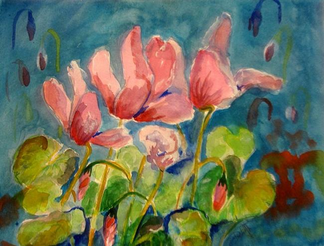 Art: Cyclamen by Artist Delilah Smith