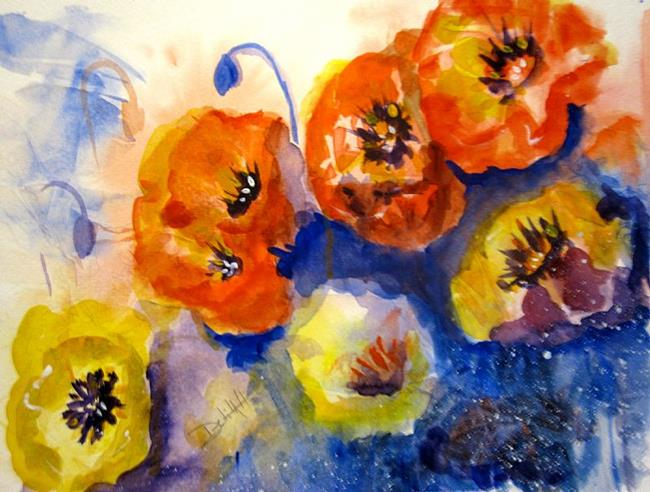 Art: Swing Time Poppies by Artist Delilah Smith
