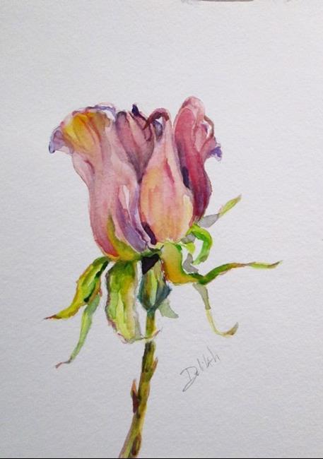 Art: A Single Rose by Artist Delilah Smith