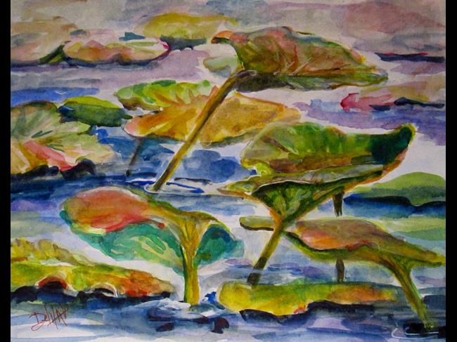 Art: Lily Pads by Artist Delilah Smith