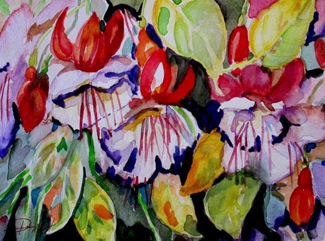 Art: Fuchsias by Artist Delilah Smith