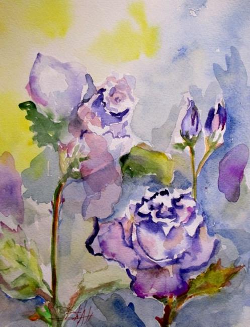 Art: Purple Rose by Artist Delilah Smith