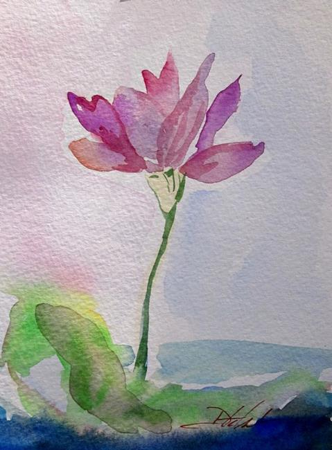 Art: Lotus Flower by Artist Delilah Smith