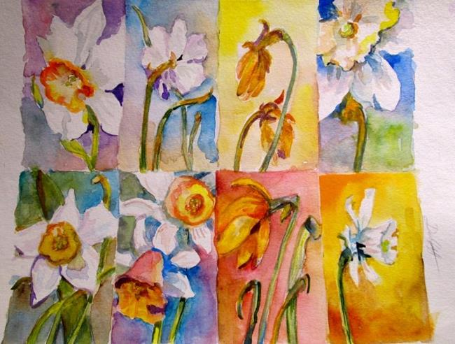 Art: A Spring of Daffodils-sold by Artist Delilah Smith