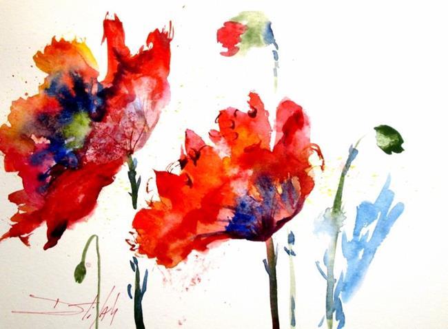Art: Poppy Splash by Artist Delilah Smith