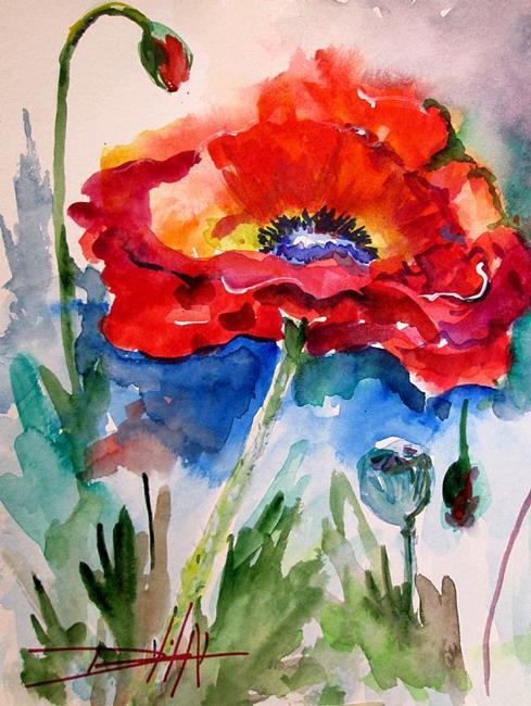 Art: Beautiful Poppy by Artist Delilah Smith