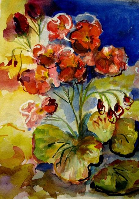 Art: Geraniums by Artist Delilah Smith