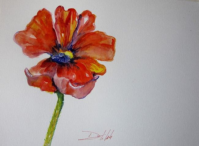 Art: Poppy No. 2 by Artist Delilah Smith